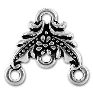 20pcs Tibetan Silver Oriental Flower 3 To 1 Earring Charms ~Jewelry