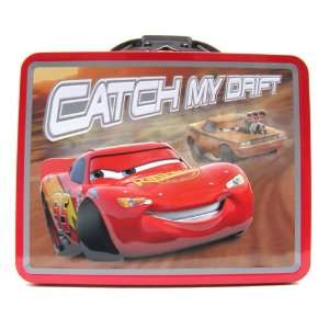 Cars Red Metal Boys Tin Lunch Box Toys & Games