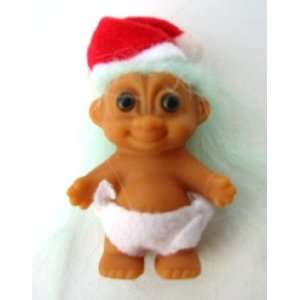 Mini Baby 2.75 Chrismas Sana roll Doll w/Diaper oys & Games