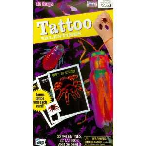 Bugs Tattoo Valentine Cards for Kids (27662) Health