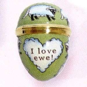 Halcyon Days Enamels The St. Valentines Day Collection I love Ewe