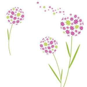 Platin Art Wall Decal Deco Sticker, Dandelion