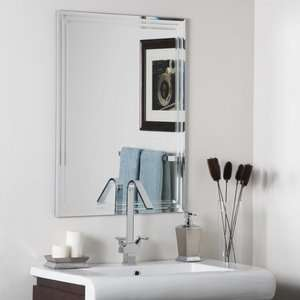 Wonderland SSM1102 Super Modern   Frameless Wall Mirror, Etched Glass