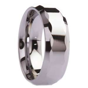 8 mm Mens Tungsten Carbide Rings Wedding Bands Polished