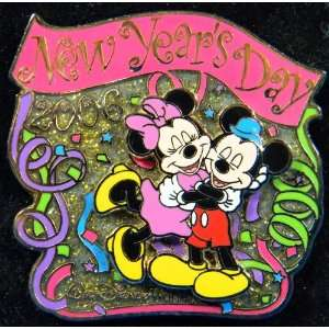 New Years Day 2006 Mickey Minnie Limited Edition Disney Pin
