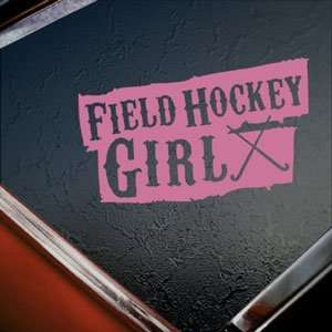 Field Hockey Girl Pink Decal Car Truck Window Pink Sticker
