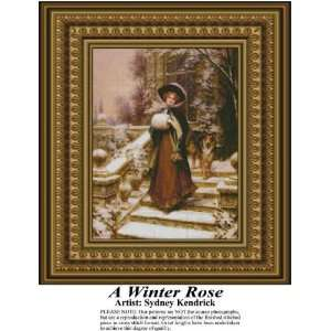 A Winter Rose Cross Stitch Pattern PDF Download Available
