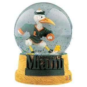 Treasures Miami Hurricanes Musical Snow Globe  Sports