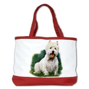 Bag Purse (2 Sided) Red West Highland Terrier