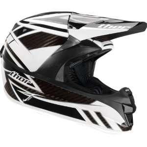 Thor Force Carbon Motocross Helmet Black/White/Silver Medium M 0110