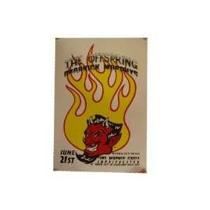 The Offspring Silkscreen Poster Devil Time Warner Cable