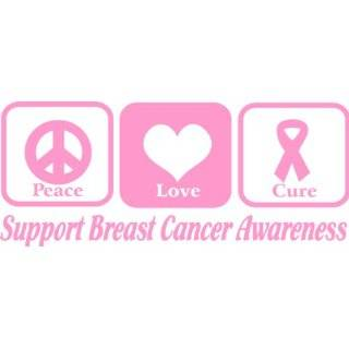 Love Cure Decal/Sticker breast cancer awareness, Pink Peace Love Cure