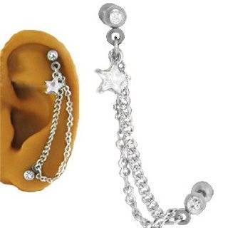 Ear Cartilage Piercing Jewelry Star 16G by NRB