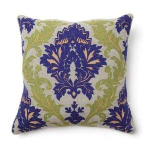 Villa Home V150377 Full Bloom Amalfi Embroidered Pillow in Blue and