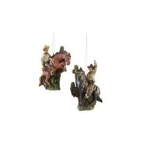 Cowboy Christmas Ornament Set of 2