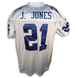 Julius Jones Signed Dallas Cowboys White Reebok Authentic