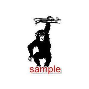 ANIMALS CHIMP 13 WHITE VINYL DECAL STICKER Everything