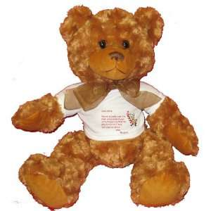 Dear Santa Letter Spoil Elizabeth Rotten Plush Teddy Bear with WHITE T