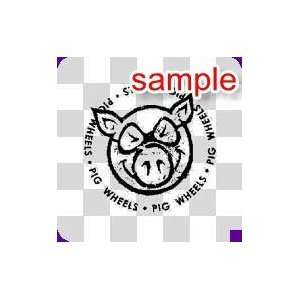 RANDOM PIG WHEELS 11 WHITE VINYL DECAL STICKER