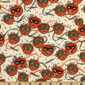 44 Wide Trick or Treat Parade Masked Pumpkin Cream