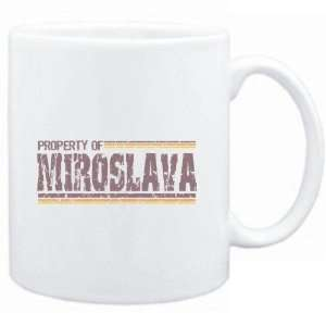Mug White  Property of Miroslava   Vintage  Female Names