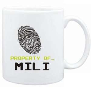 Mug White  Property of _ Mili   Fingerprint  Female