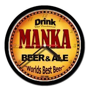 MANKA beer and ale cerveza wall clock: Everything Else