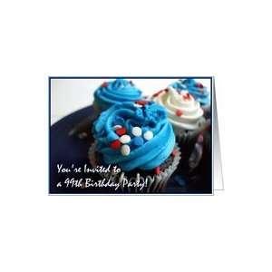 Happy 99th Birthday Invitation Cupcakes Card : Toys & Games :
