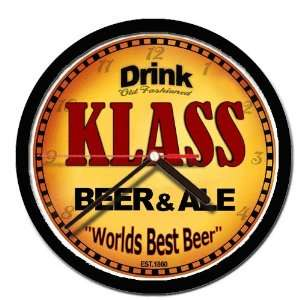 KLASS beer and ale cerveza wall clock: Everything Else