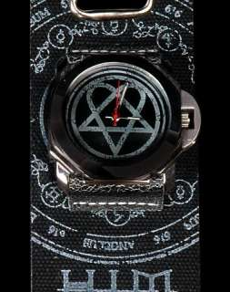 Home  /  HIM Heartagram Watch Black Distressed Strap