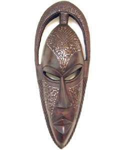 Hand carved Bundu Mask (Ghana)  Overstock