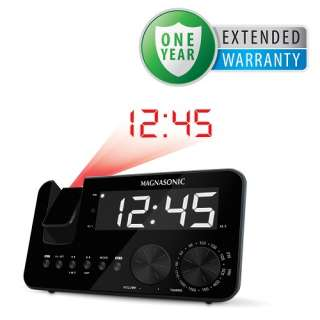 Projection Clock Radio Battery Backup Alarm Auto Time Set Bonus 1 Year