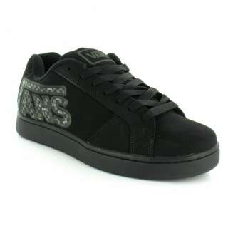 Trainers Vans Widow Checker Mens Suede Leather Skate Shoes   Black