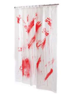 Bloody Shower Curtain in Decorations Props & Accessories