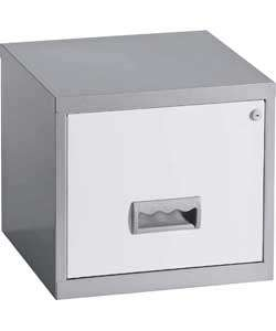 Buy Pierre Henry 1 Drawer Filing Cabinet   Silver/White at Argos.co.uk