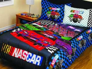 NASCAR Race Cars Twin Full Racing Bedding COMFORTER SET