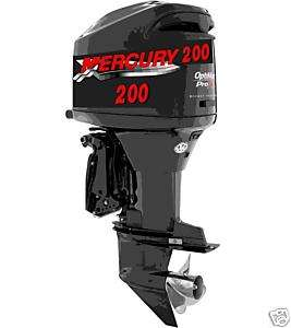 XLG MERCURY OUTBOARD BOAT MOTOR DECAL,STICKER,DECALS
