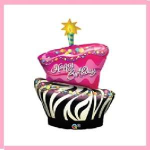 to hot pink zebra birthday cake hot pink zebra party supplies pink ...
