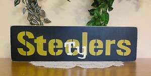 Personalized Football Team wooden signs   Steelers, Jets, Eagles, etc.