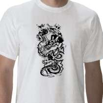 Cool Tribal Dragon Tattoo Designs Custom Art Tee t shirts by