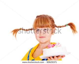 Funny Kid Holding Birthday Cake Stock Photo 90629371  Shutterstock