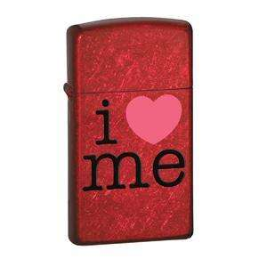Zippo 24352 Slim Candy Apple Red, I Love Me, Lighter at OutdoorPros