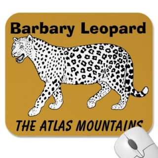 Barbary Leopard The Atlas Mountains Mouse Mats from Zazzle