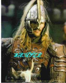 LORD THE RINGS LOTR KARL URBAN EOMER W HELMET PHOTO