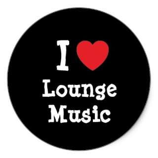love Lounge Music heart custom personalized Sticker from Zazzle