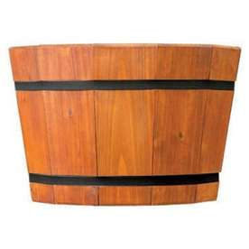Shop Matthews Four Seasons 17 Shallow Heartwood Barrel Tub at Lowes
