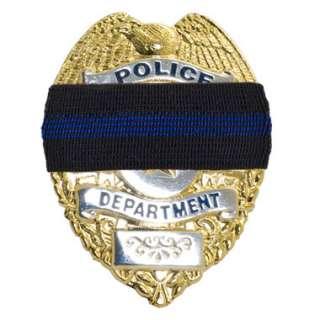 Blue Line Badge Mourning Band
