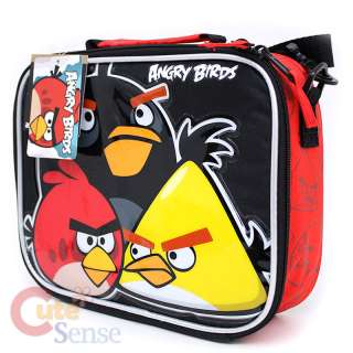 Rovio Angry Brids School Roller Backpack Rolling Lunch Bag 3 Birds 6