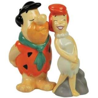 Fred Kissing Wilma Flintstone Salt and Pepper Shakers Flintstones