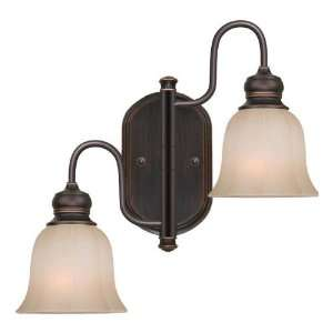 allen + roth 2 Light Bronze Traditional Arm Wall Sconce